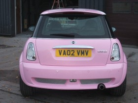 Holder Mini cooper Pink 024