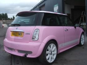 Holder Mini cooper Pink 025