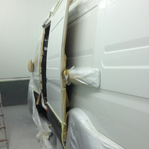 Van in Spray Booth